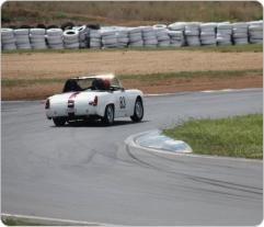 Wakefield Park coming out of turn 2. Photo by SCCA member, John Needs.