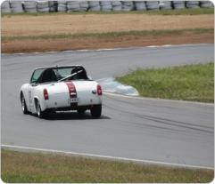 Wakefield Park coming into turn 2. Photo by SCCA member, John Needs.